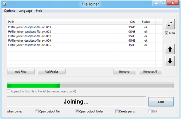 File Joiner (64bit, portable) full screenshot